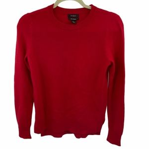 Halogen | Red 100% Cashmere Crew Neck Sweater | XS